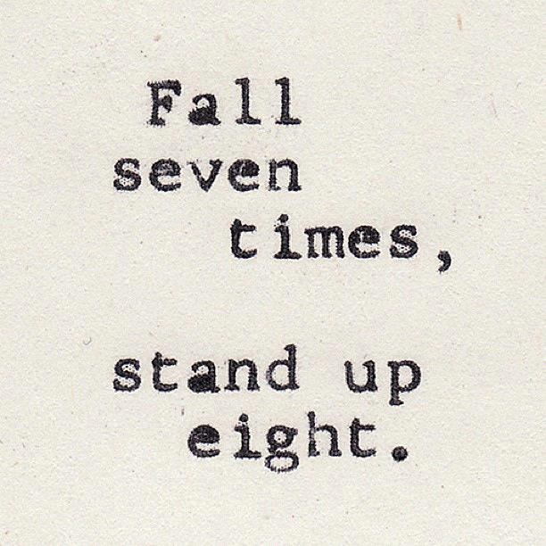 #typo falling standup strong Motivation
