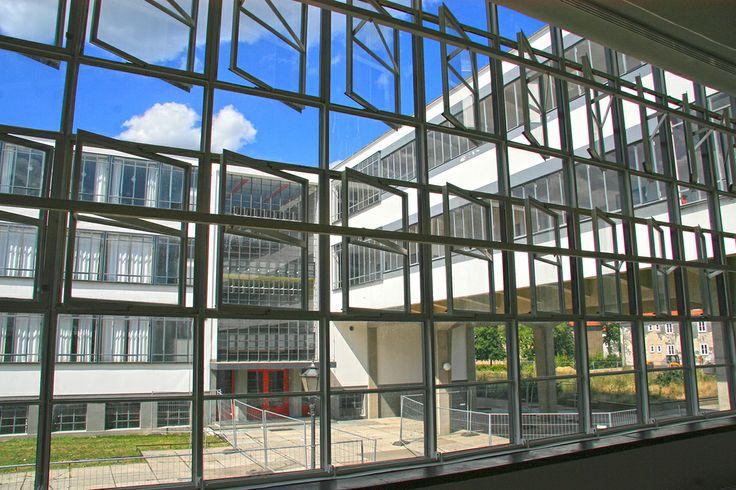 Crittall windows in the Bauhaus Dessau http://www.hoteldesigns.net/industrynews/news_4771.html