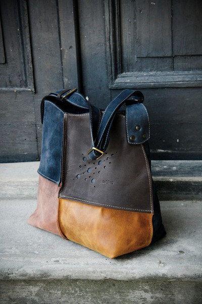 Cuero hobo con cremallera bolsa de hombro - colores agradables. Interior un bolsillo con cremallera grande ingenio móvil - se puede pedir este bolso en