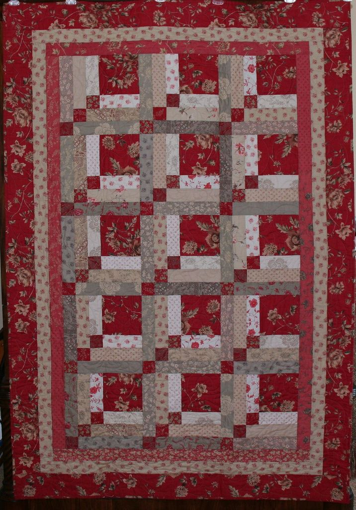 French General Rouenneries Quilt Patterns Log Cabin