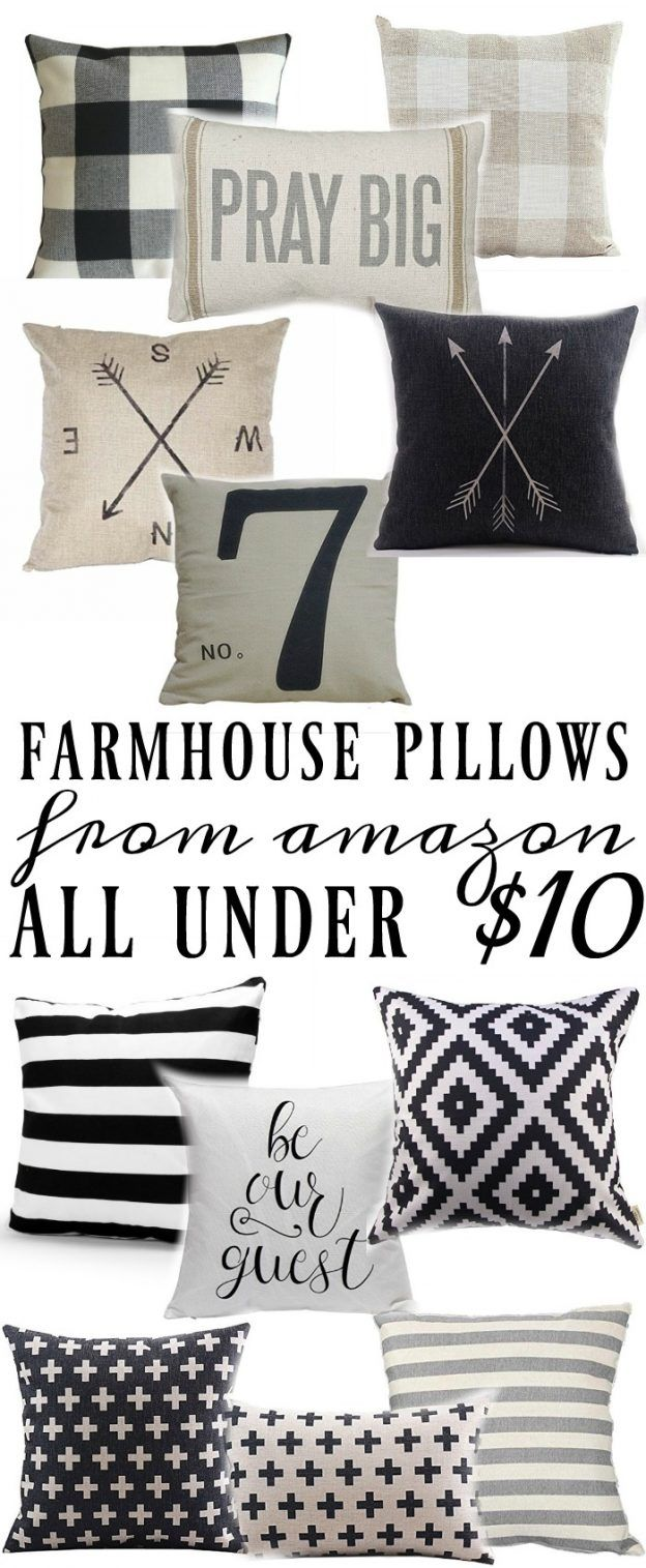 Farmhouse Style Pillows All Under $10