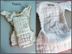 Doodle La: Prefold-to-Fitted Diaper DIY How to turn prefold into a fitted cloth diaper
