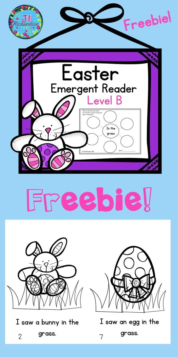 """Do you need an Easter Level B book for your book boxes? Enjoy this cute emergent reader. Sentence pattern is """" I saw a ____ in the grass."""" Have fun reading the story! Complete the graphic organizer! Make a class book! (reproducible or new version)"""
