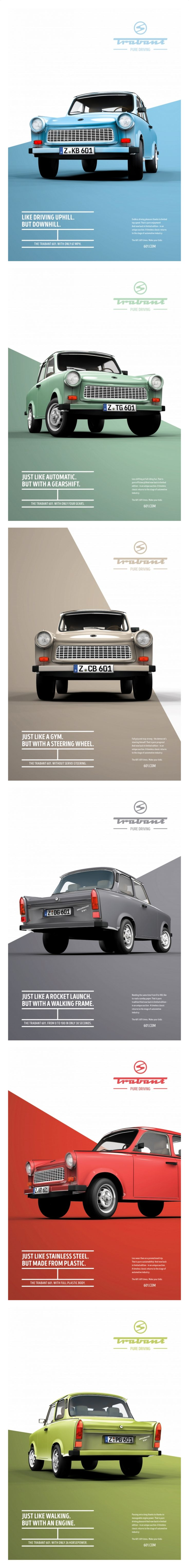 Parts of a poster design - Trabant 601 Pure Driving Design By Institute Of Design D Sseldorf Germany
