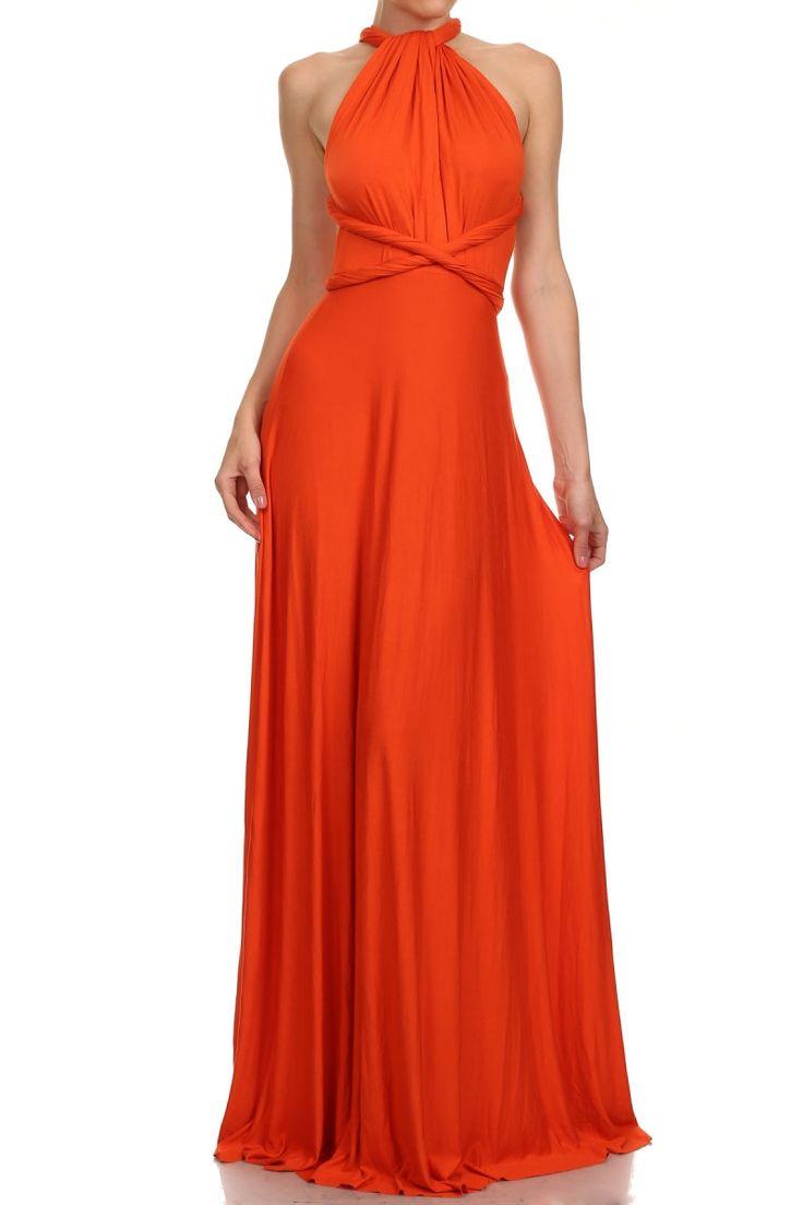 Infinity Maxi Dress (Rust) | Products | Dresses, Fashion ...