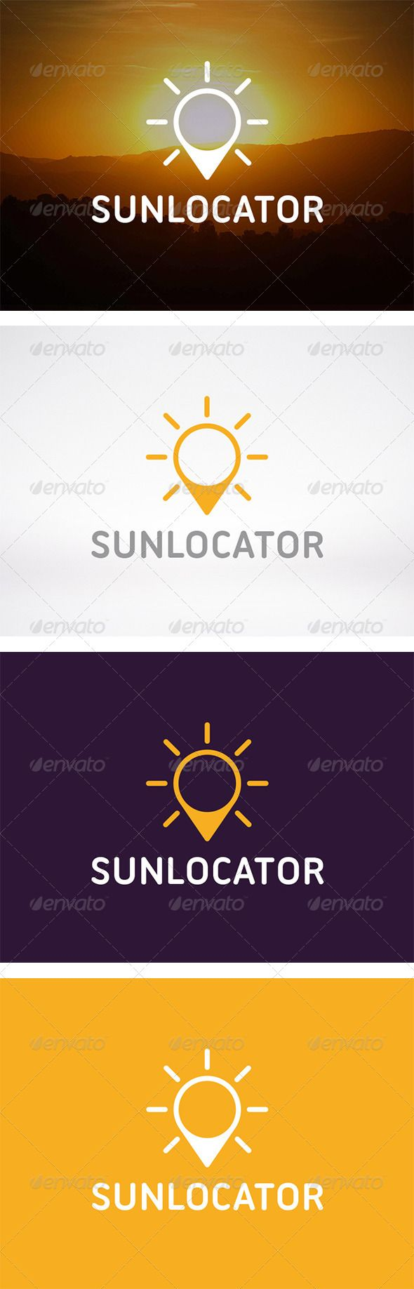 Sun Locator Logo #GraphicRiver - Three color version: color, greyscale and single color. - The logo is 100% resizable. - You can change text and colors very easy using the named and organized layers that includes the file. - The typography used is Ubuntu Titling you can download here: .fontsquirrel /fonts/Ubuntu-Titling Created: 30October13 GraphicsFilesIncluded: VectorEPS #AIIllustrator Layered: Yes MinimumAdobeCSVersion: CS Resolution: Resizable Tags: business #earth #eco #energy…