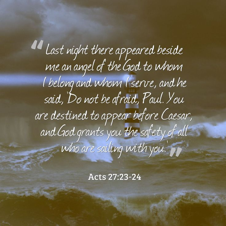 Acts 27:23-24 | Acts of the Apostles | Acts 27, Acts of ...