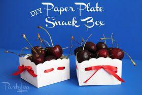 PARTYLISS: DIY Paper Plate Boxes