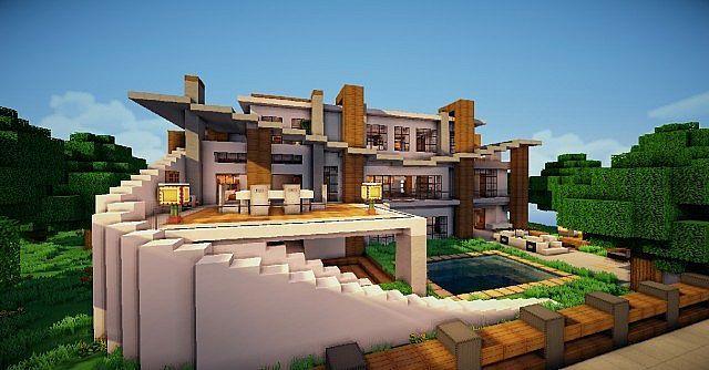 Minecraft Haus Modern 09