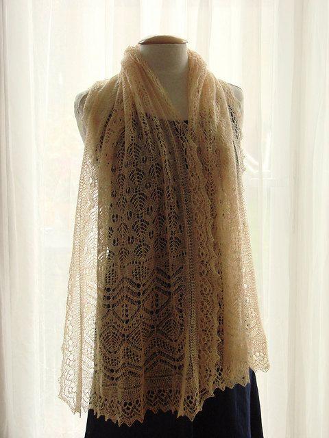 Monique Boonstra - Aith, an original handknit fine shetland heirloom lace shawl