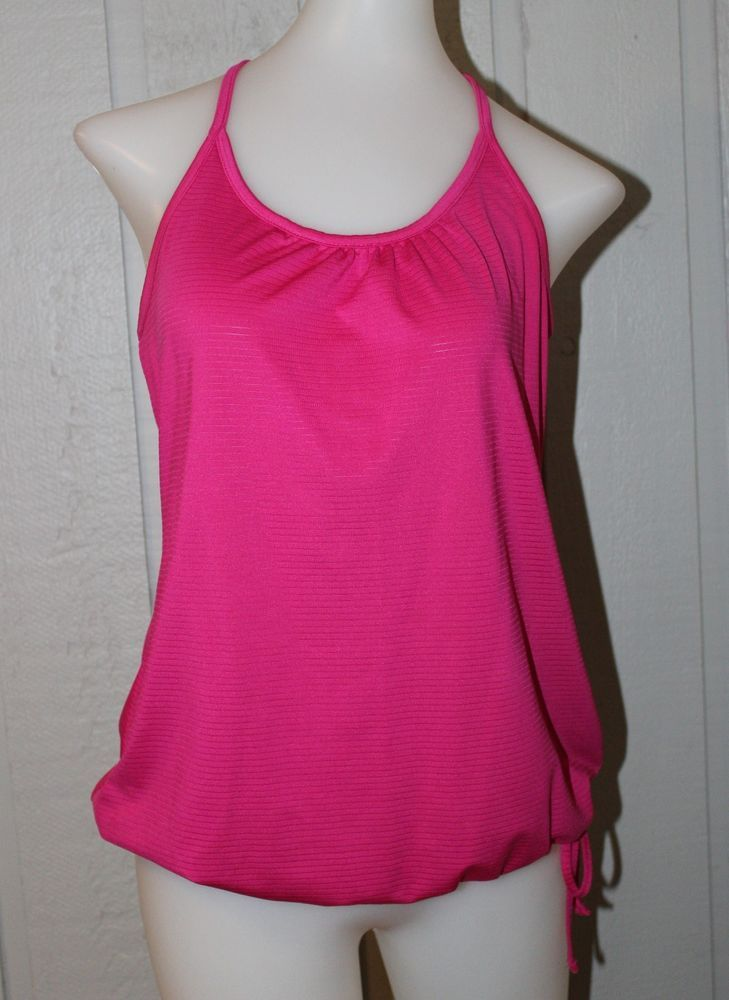 Old Navy Active Xs Loose Fit Hot Pink Sleeveless Drawstring Workout Gym Shirt Oldnavy Athletictops Gym Shirts Tank Top Fashion Loose Fitting