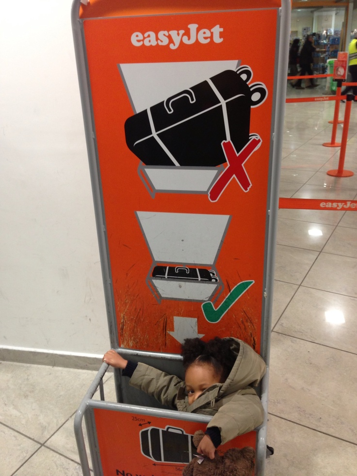 Checking our luggage