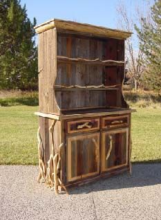 Rough-cut lumber hutch