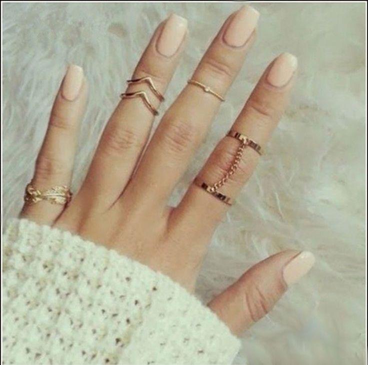 Set: 6 Stück Midi Ringe (Fingerspitzenring Obergelenkring Knöchelring Ring) NEU