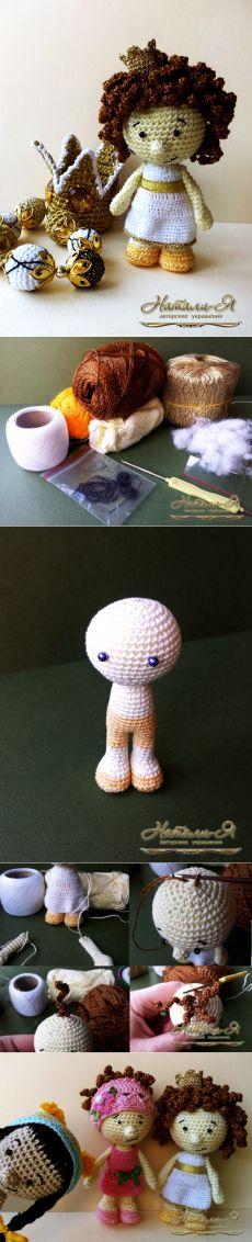 Мастер-класс: вяжем крючком Принцессу Альку - Ярмарка Мастеров - ручная работа, handmade