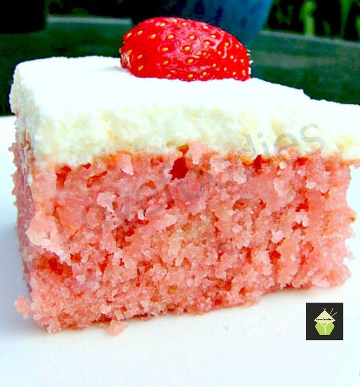 Moist Strawberry Coconut Sheet Cake from @myrecipemagic