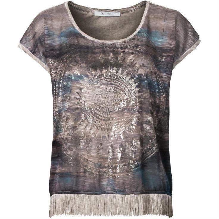Boho chic Monari T-shirt bij Smit Mode. Artikelnummer 019230.
