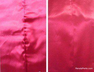 como costurar cetim sem franzir o tecido