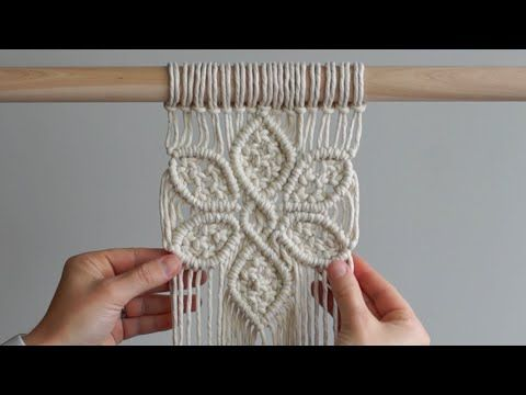 DIY Macrame Tutorial: Large 6 Petal Flower Using Double Half Hitch and Square Knots! - YouTube