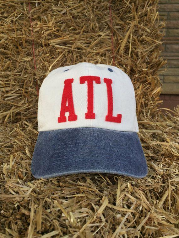 Airport Code, City Pride Atlanta GA Handmade Hat With Vintage Inspired Felt Letters