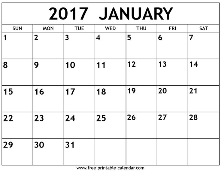 The 25+ best January 2017 calendar template ideas on Pinterest - printable monthly calendar sample