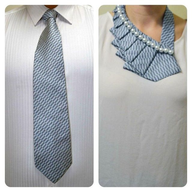 This unique repurposed necktie is a trendy collar which will give you a chic allure. It can be achieved here or you can make a new twist on the old