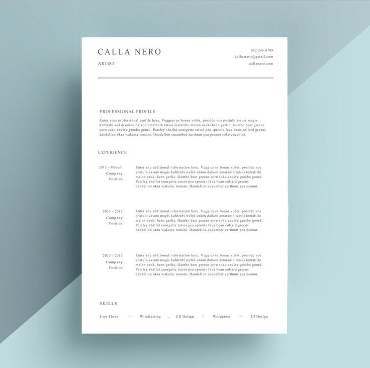 Simple Resume CV and Cover Letter