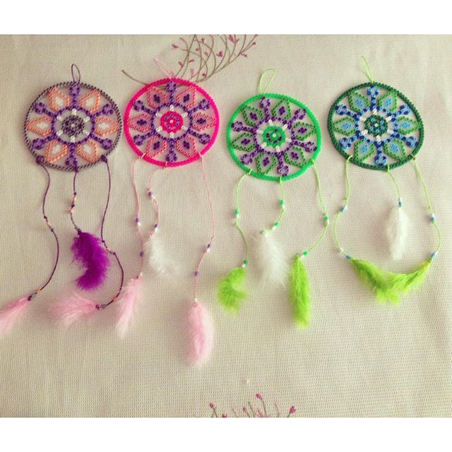 Dreamcatchers hama beads by mir_yus