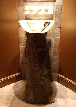 wooden pedestal sink | Reclaimed Wood Pedestal Sink bathroom vanities and sink consoles