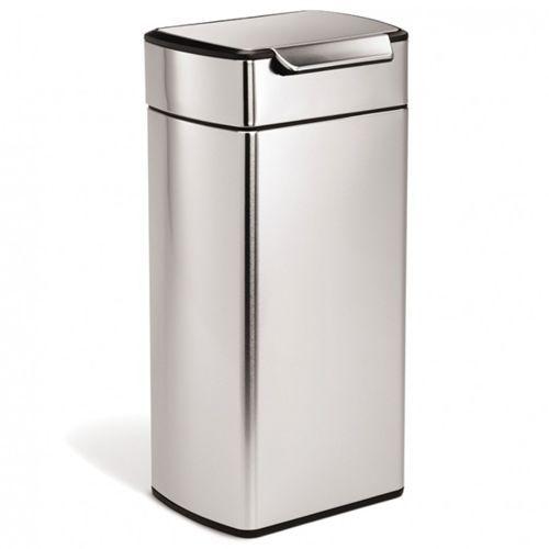 Simplehuman poubelle rectangulaire à touch-bar 30l inox cw2015 - pas cher Achat / Vente Poubelle de cuisine - RueDuCommerce