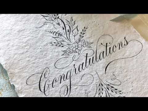 Super Satisfying Copperplate Calligraphy Compilation - YouTube
