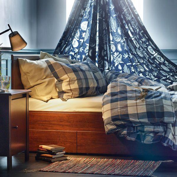 Arrumação e conforto.  Camas com arrumação  IKEA Portugal  Pinterest  Ikea, Conforto e Camas