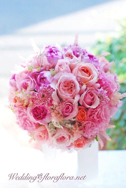 花嫁様のご希望を形にした珠玉のローズブーケ ホテルニューオータニ様へ 東京 * FlowerStudioFLORAFLORA ウェディングフラワー&フラワースクールWeddingFlower&FlowerSchool * Tokyo