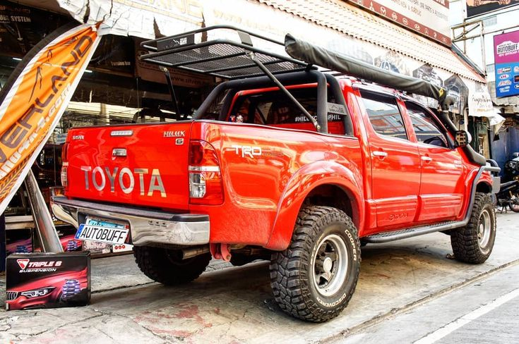 Triple S Offroad Toyota Project Upgrades Available For The Toyota Hilux 2 Inch Lift Kit Triple S Offroad 2pcs Front Coil Sprin Car Car Gauges Toyota Hilux