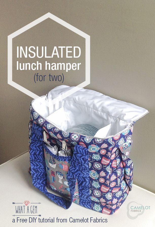 How To's Day: Insulated Lunch Hamper with What a Gem by Allison Cole for Camelot Fabrics