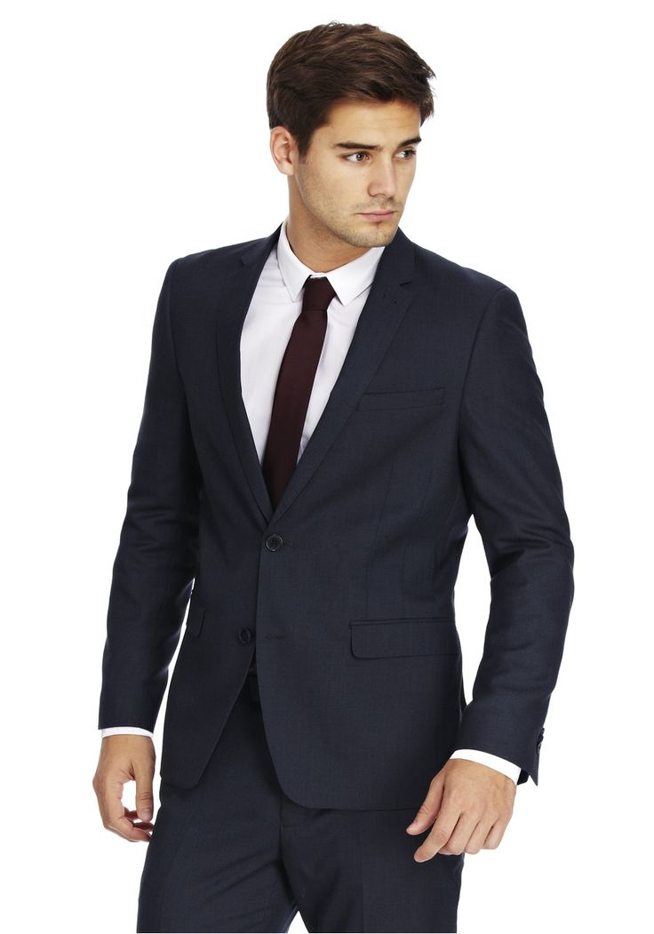 Clothing at Tesco | F&F Air Force Blue Slim Fit Suit Jacket > outfit-builder > Suits & Tailoring > men