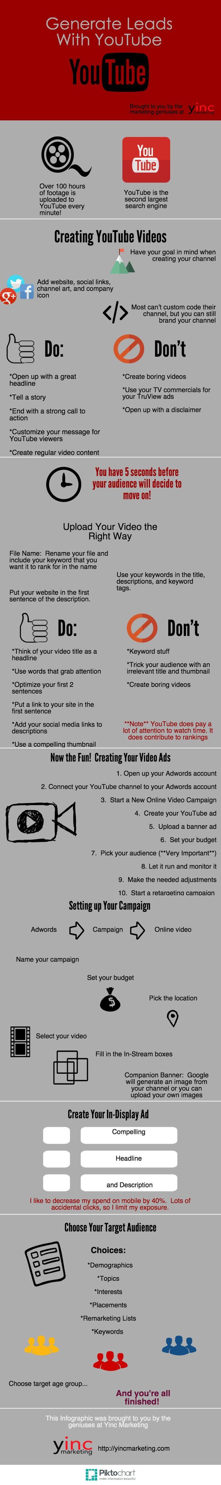 Cómo generar leads con Youtube. Guía de marketing gratis. FREE YouTube Marketing Guide.