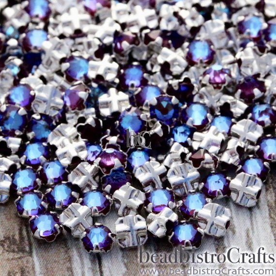 Sew on Crystals Colours Swarovski Rose Montees Different sizes