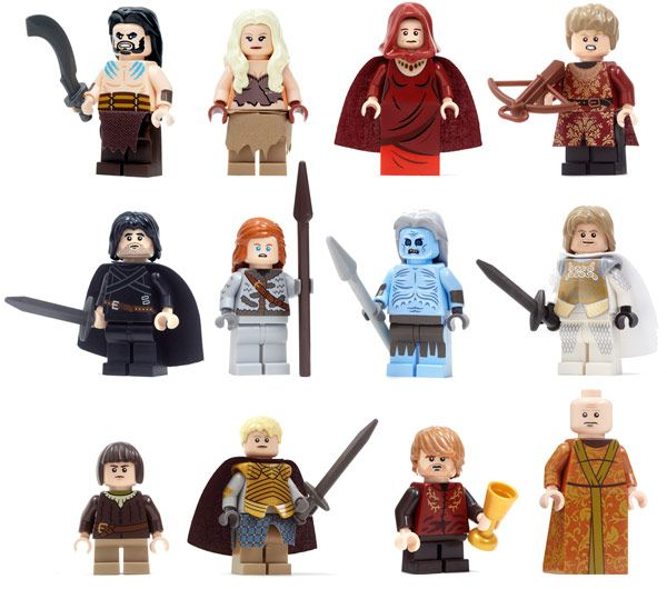 Game of Thrones Dragon Sword Fighter Force Minifigures