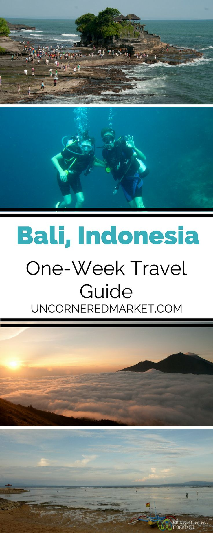 A guide on how to spend a week traveling around Bali, Indonesia. Itinerary suggestions to climb volcanoes, go scuba diving, take a Balinese cooking course, watch a Kecak show, visit Balinese temples, relax on the beach, chill in Ubud, and much more. | Uncornered Market Travel Blog