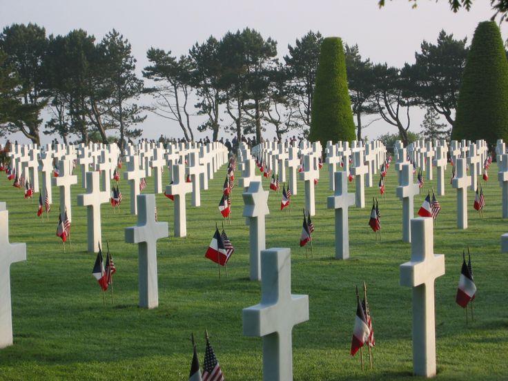 Cimetière Américain près des plages du Débarquement en Normandie ©Mémorial de Caen