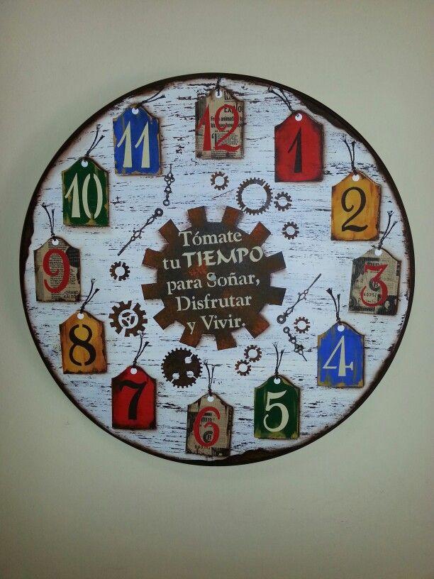 Reloj decorativo kambila arte clases de pintura y trabajos sobre pedido 0981280941