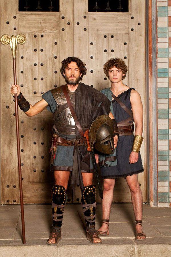 król Itaki Odyseusz i książę Telemach
