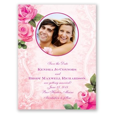 Regal Roses Save the Date - in Begonia #PinkWedding #SaveTheDate #DavidsBridal http://www.invitationsbydavidsbridal.com/Wedding-Invitations/Save-the-Dates/2947-DBP33277BEGSD-Regal-Roses--Begonia--Save-the-Date.pro?&sSource=Pinterest&kw=SoPinkinCute_DBP33277BEGSD