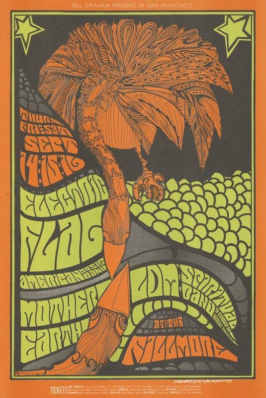 Electric Flag, Mother Earth, LDM Spiritual Band - Bill Graham Presents in San Francisco - September 14-16 [1967] - Fillmore