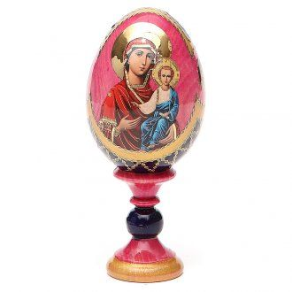 Russian Egg Smolenskaya Fabergè style 13cm | online sales on HOLYART.co.uk
