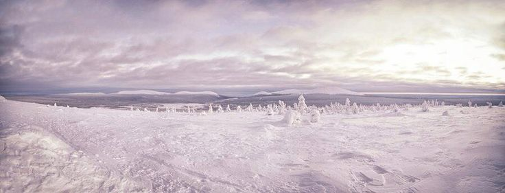 Kuerkonturi, Äkäslompolo Finnish Lappland view Winter Snow