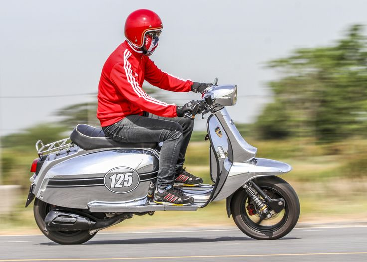 Scomadi TL125 Scooter : Silver Bronze