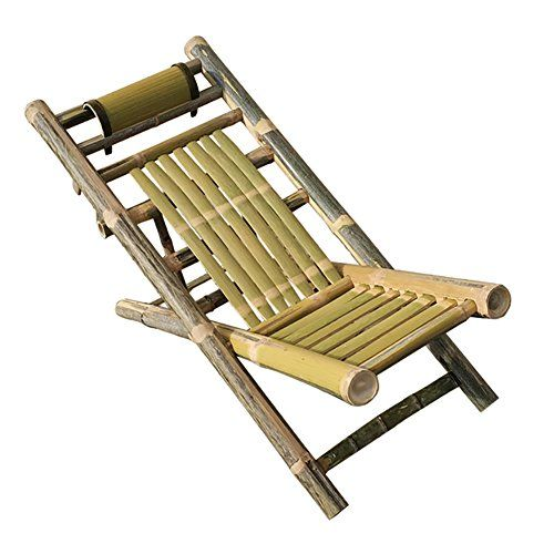 hand made bamboo deck chair summer folding chair old people chaise rh pinterest com