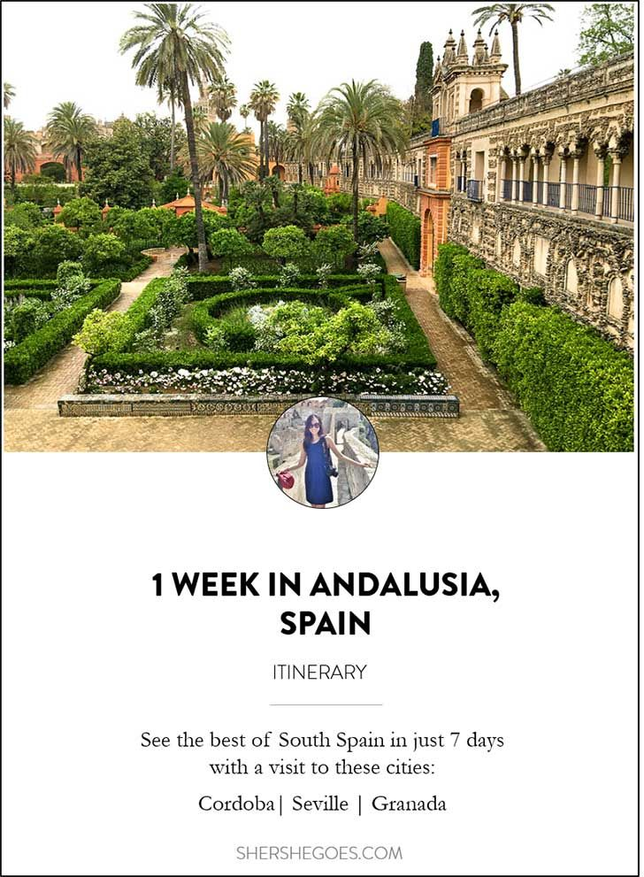 How to see the best of Cordoba, Granada and Sevilla in 1 week. Read on for my Southern Spain itinerary!
